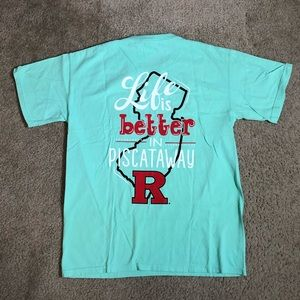 Rutgers Life is Better Scarlet Knights Tee Med NWT